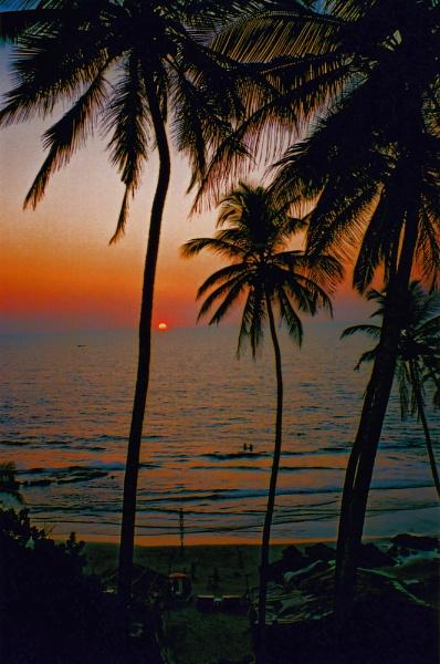 Nine Bar Sunset, Goa, India.