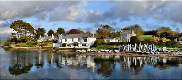 Mylor Harbour 1. Panorama. Nikon D3100. DSC_9504. by rpba18205