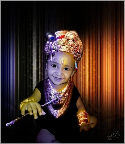 Child as Krishna by Sushanta