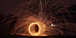 Steel wool spin