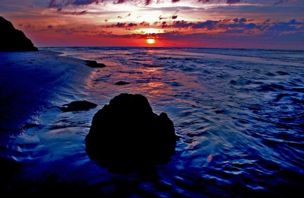 Perranporth sunset 2012 .