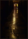 Stone Paved Street at Night by nonur