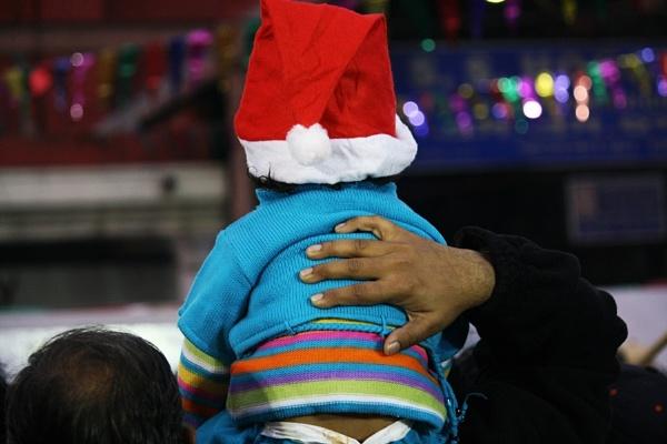 Little Santa needed support. by PradyothChakraborty