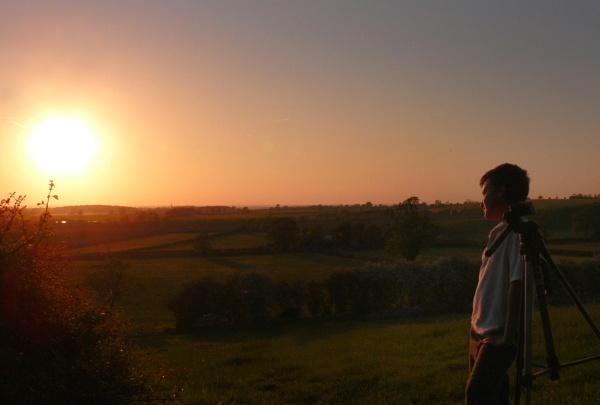 My Son & the Sunset by woodlandlad