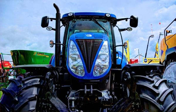 Big Blue Tractor by Hamlin