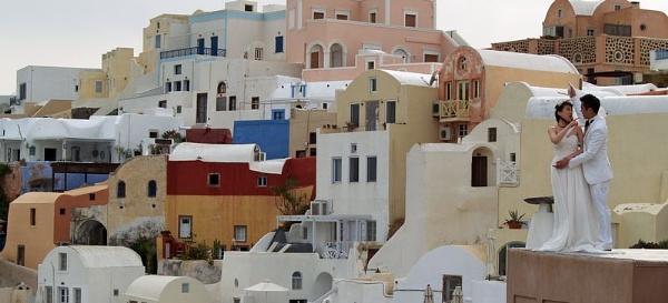 Santorini Wedding (first argument?) by gossyboy