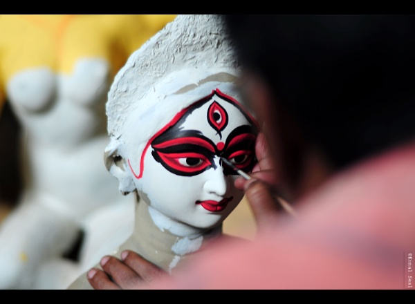 Chokkhu Daan(Painting of eyes) by kunal_seal