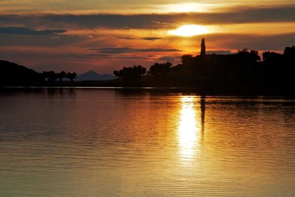 Sunset, Milina, Greece by stevew10000