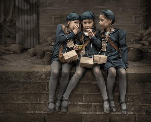 Evacuee Triplets by K_T