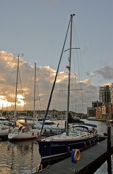 evening dockyard by stevesilver