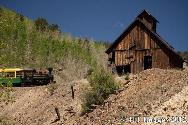 Cripple Creek, Victor Colorado Narrow Gauge Train by Harlan