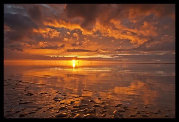 SUNSET AT NEW BRIGHTON by razorraymac