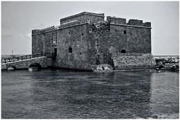 Paphos Fort B/W