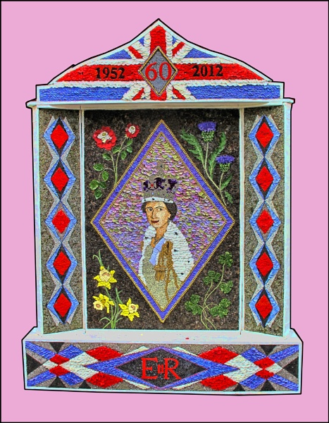 DERBYSHIRE WELL DRESSING OF THE QUEEN by stocksbridge