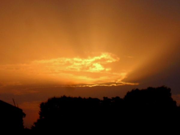 Amazing sunset by BHUBAN