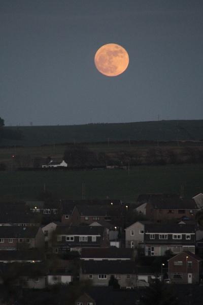 Moonrise over Penicuik. by Adrianwalker