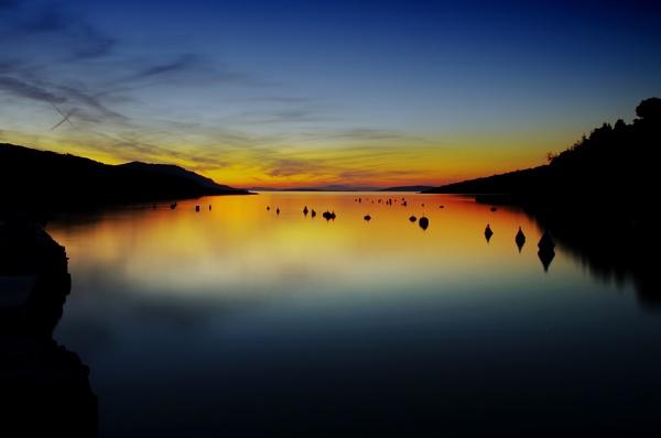 Evening sky by jamb
