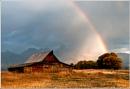 Barn and Rainbow