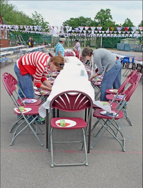 Jubilee Party - 4. Preparing for tea by helenlinda