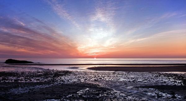 **Sunset over Cardigan Bay by Mynett