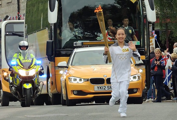 Olympic Torch in Ballater by angler33333