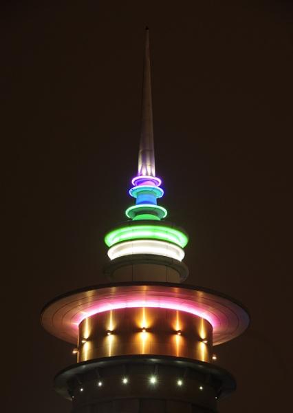 Illuminated Tower by Cybalist