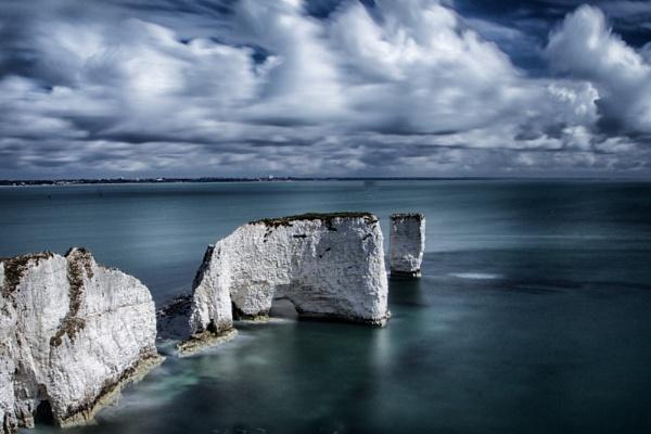 White on blue by marktc