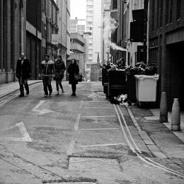 Upper Basinghall Street. Leeds uk.