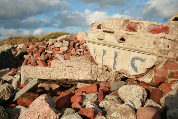 Blitz rubble, Crosby beach by SarahThomo