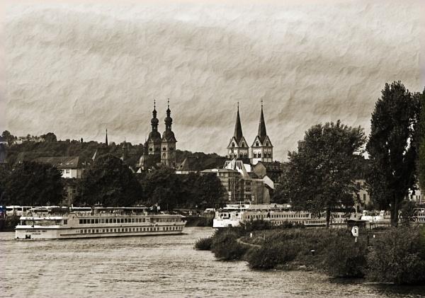 Rhine Traffic by Goody2shoes
