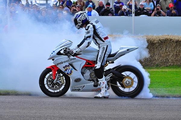 MV Augusta 675cc Tyre Burnout by IanBroadmore