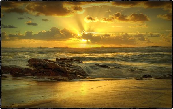 Sunrise at Coolum Sunshine Coast Queensland Australia. by deguest
