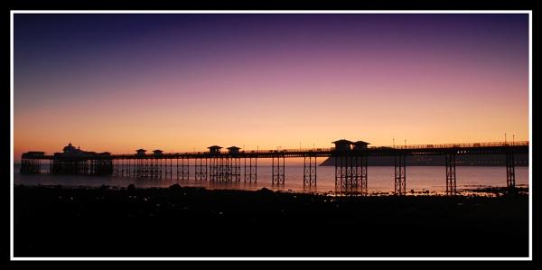 Llandundo Pier at sunset by m60mrj