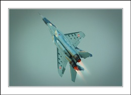 MIG 29 on full afterburners