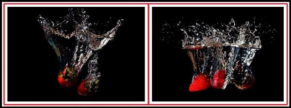 swimming strawberries by dabhandphotographics