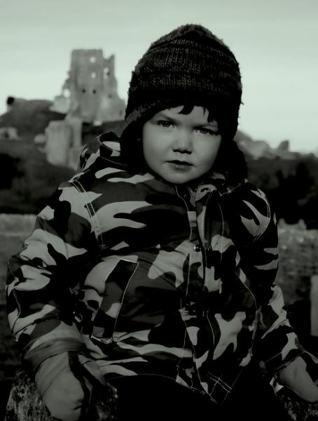 Nephew @ Corfe Castle. by UrbaneMagick