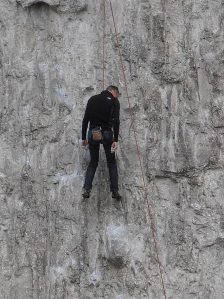climber takes a break by WAKO
