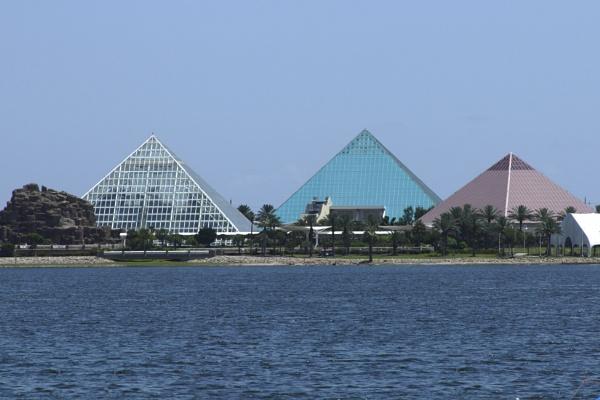 Moody Gardens Pyramids Galveston Island Texas by kaoskode