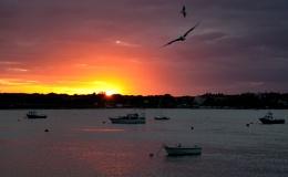 sunset on walney channel