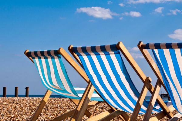 Brighton deckchairs by zippy123