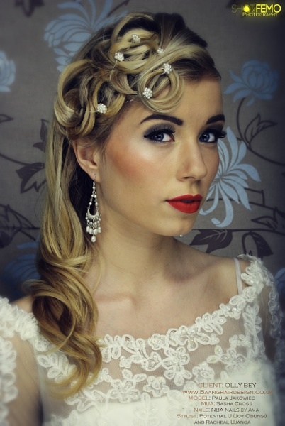Vintage Classic Bridal Hairdo by ShotbyFemo