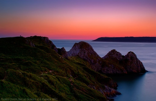 Three Cliffs Bay at Sunset by skye1