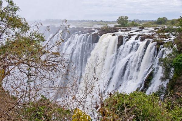 Victoria falls from Livingstone, Zambia by pdunstan_Greymoon