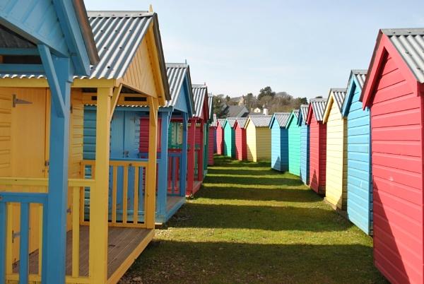 Beach Huts in February by elainebaker