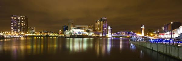 Media City Night by Philpot