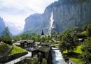 Switzerland-Berner Oberland area -Jungfrau-Joch waterfall