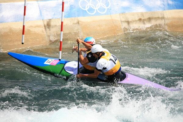 Olympics slalom by brianwakeling