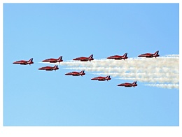 RED ARROWS, Olympic flame flypast lincoln