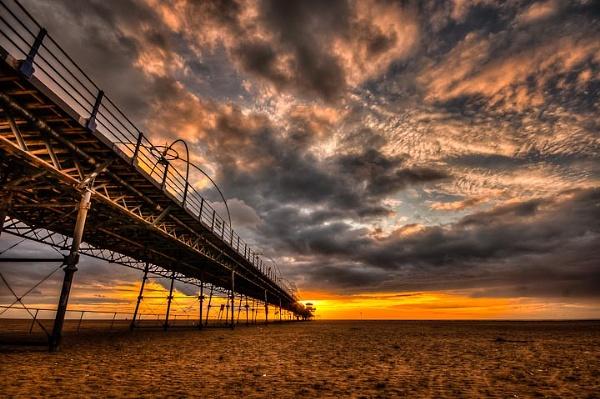 Southport Pier at Sunset by jeni