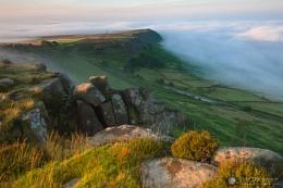 The Mist Breaks against Baslow Edge